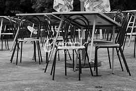 Chair and tables