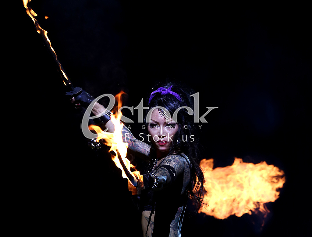 Woman and fire