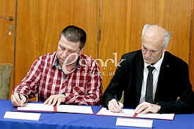 Signing of the contract