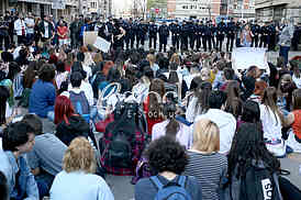 Protest of the students of the Philological Gymnasium
