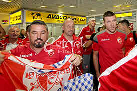 The arrival of the Red Star players